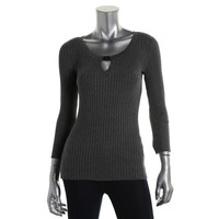 INC Womens Ribbed Knit Stretch Pullover Sweater