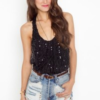 Dancer Sequin Tank - Black  in  Clothes at Nasty Gal
