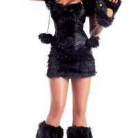 In new Halloween animal fur plush role playing black bears uniform temptation 2013 (Size: M) = 1932169348