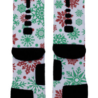 Let It Snow Custom Nike Elites