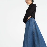 FLOWING DENIM SKIRT New