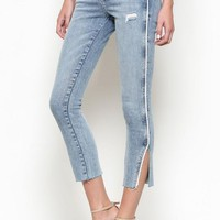 Thin Line Side Piping Denim by Hidden Jeans