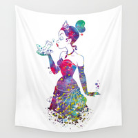 Princess Tiana The Princess and the Frog Watercolor Wall Tapestry by Bitter Moon
