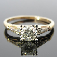 1940's Art Deco Diamond Engagement Ring, over half a carat, beautiful two tone mount RGDI358N