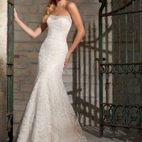 Mori Lee 2705 Lace Fit and Flare Wedding Dress