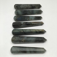 1pc Handmade Labradorite Crystal Obelisks Massage Healing @India, SW99