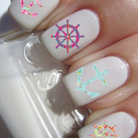 Anchor and Wheel Nail Decals (Set of 8)