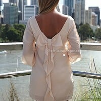 PRE ORDER - BILLOWING 2.0 DRESS (Expected Delivery 7th April, 2014) , DRESSES, TOPS, BOTTOMS, JACKETS & JUMPERS, ACCESSORIES, 50% OFF SALE, PRE ORDER, NEW ARRIVALS, PLAYSUIT, COLOUR, GIFT VOUCHER,,White,CUT OUT,SHIFT,LONG SLEEVES,MINI Australia, Queensland