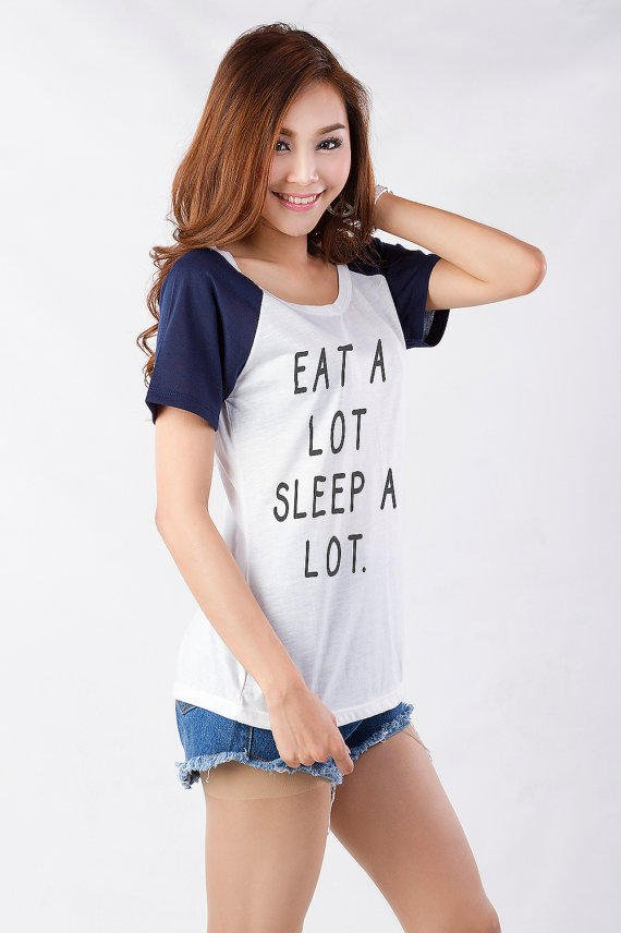 Eat A Lot Sleep Graphic Tee Shirt T From Tee24station On
