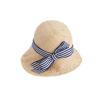 Striped Bow Race Day Hat