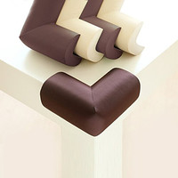 Baby Mate 12 PCS Premium Soft Table Corner Protectors for Baby - Foam Corner Bumpers Baby Proofing - Safety Corner Guards - Corner Pads Child Safety - Corner Covers for Furniture (Brown, 12 PCS) 1174
