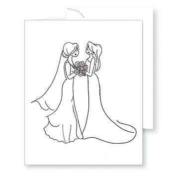 Happy Couple - Brides Greeting Card