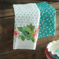 The Pioneer Woman Vintage Bloom Kitchen Towel Set, 4pk - Walmart.com
