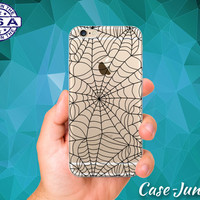 Black Spider Web Spooky Halloween Inspired iPhone 5 iPhone 5C iPhone 6 iPhone 6 + iPhone 6s iPhone 6s Plus and iPhone SE iPhone 7 Clear Case