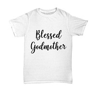 Cutie Pie Tees Blessed Godmother White Shirt