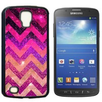 Chevron Anchor Boat Hard Plastic and Aluminum Back Case for Samsung Galaxy S4 Active I9295 With 3 Pieces Screen Protectors