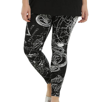 Black Astrology Leggings Plus Size
