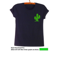 Cactus Plant Shirt Pocket Tee Succulent T Shirt Fashion Cute Fresh Tops Hipster Tumblr Teen Womens Mens Unisex Swag Dope Stylish Gifts Ideas