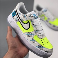 inseva Nike Air Force 1 Worldwide Black/Flash Crimson-Green sneakers shoes