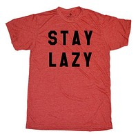 Stay Lazy - Heather Red