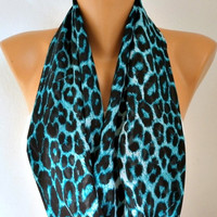 Leopard - Infinity Scarf Shawl Circle Scarf Loop Scarf  Gift -fatwoman