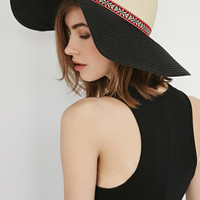 Embroidered Band Straw Hat