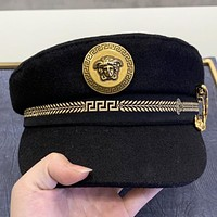 Versace New fashion human head couple fisherman hat cap Black