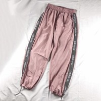 ADIDAS Women Casual Loose Reflective Pants Trousers