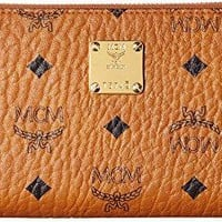 MCM Womens Heritage Large Zipped Wallet