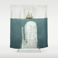 The White Whale Shower Curtain by Terry Fan | Society6