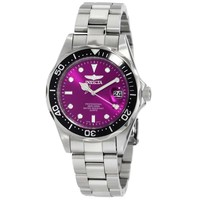 Invicta 10668 Men's Pro Diver Stainless Steel Purple Dial Quartz Dive Watch