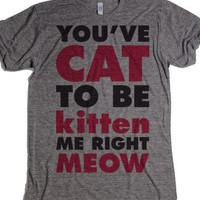 You've Cat To Be Kitten Me Right Meow-T-Shirt 2XL |