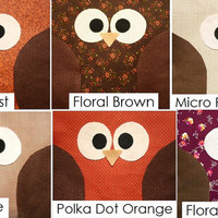 Fall Owl Pillow - Choose from Multiple Patterns - Autumn - Seasonal - Limited Time!