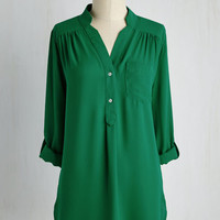 Long 3 Pam Breeze-ly Tunic in Green