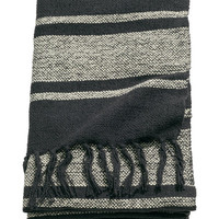 Striped Cotton-blend Throw - from H&M
