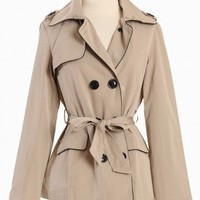 double breasted trench coat by Costa Blanca
