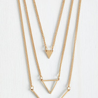 Minimal Let's Shape on It Necklace by ModCloth