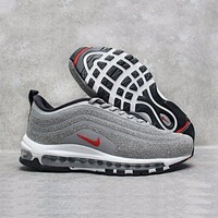 Tagre™ ONETOW Best Online Sale Nike Air Max 97 LX Swarovski Crystal METALLIC Silver Bullet Running Shoes Sport Shoes 927508-001
