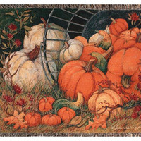 Fall Harvest Throw Blanket - Made In The Usa