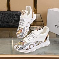 VERSACE  Fashion Men Women's Casual Running Sport Shoes Sneakers Slipper Sandals High Heels Shoes