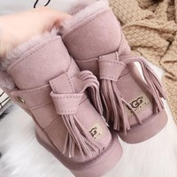 UGG Tasseled fashionable leisure snow boots-5