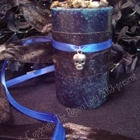 Apparition Pillar Candle - Contact And Consult With Spirits, Make Psychic Connections - Mugwort, Wormwood - Witchcraft, Conjure, Wiccan