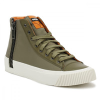 Diesel Mens Burnt Olive S-Voyage Hi-Top Trainers