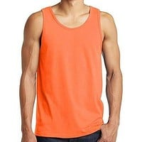 Mens Neon Orange Tank Top Shirt