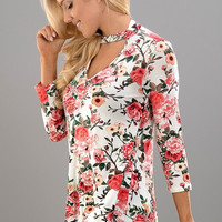 Sunny Day Floral Top - Ivory