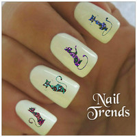 Cat Nail Decal 20 Vinyl Stickers Nail Art