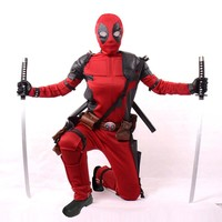 plus size custom movies 2016 deadpool costume adult superhero cosplay suit halloween costumes for men party fancy dress