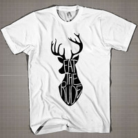 EAT THE RUDE  Mens and Women T-Shirt Available Color Black And White