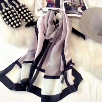 Givenchy Stylish Ladies Summer Bow Print Silk Scarf Kerchief Cape Scarf Scarves Shawl I-XLL-WJ