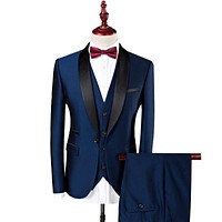 Single Breasted Slim Fit Tuxedo Suit